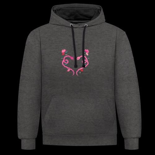 Coeur de serpents - Sweat-shirt contraste