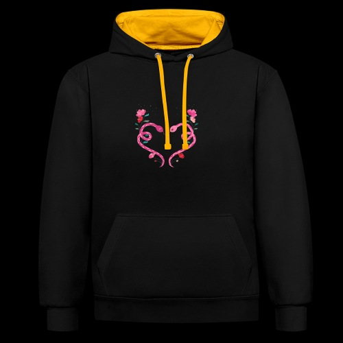 Coeur de serpents - Sweat-shirt contraste