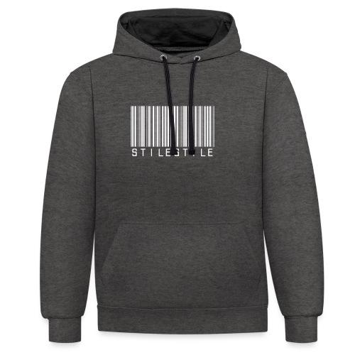 Barcode - Felpa con cappuccio bicromatica