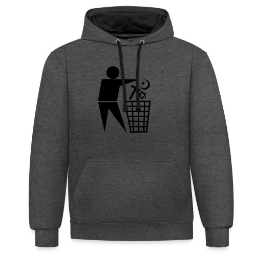 Anti Religion # 1 - Contrast Colour Hoodie