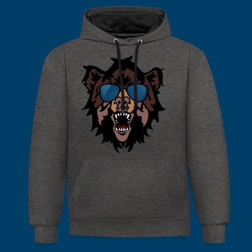 The Grizzly Beast - Contrast Colour Hoodie