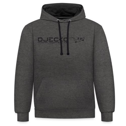 Logo rect noir txt et gecko - Sweat-shirt contraste