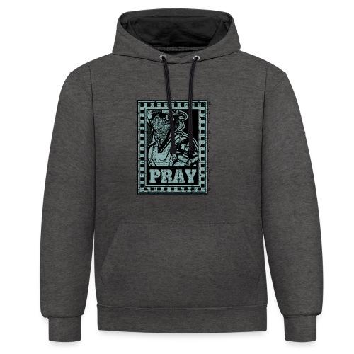 Pray - Felpa con cappuccio bicromatica