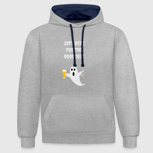 just here for the booze - Contrast hoodie