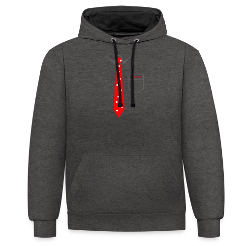 Geek   Schlips Krawatte Wissenschaft Streber - Kontrast-Hoodie