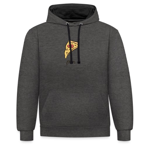 pizza, pizzeria, pizzalover, pizzaitaliana - Contrast Colour Hoodie