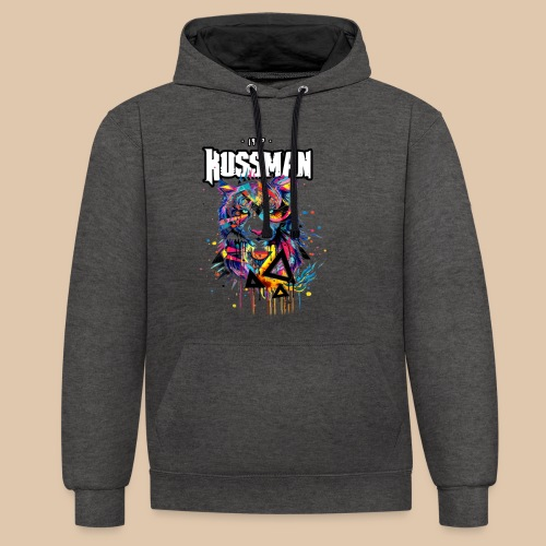 Kussman | Rainbow Tigre - Sweat-shirt contraste