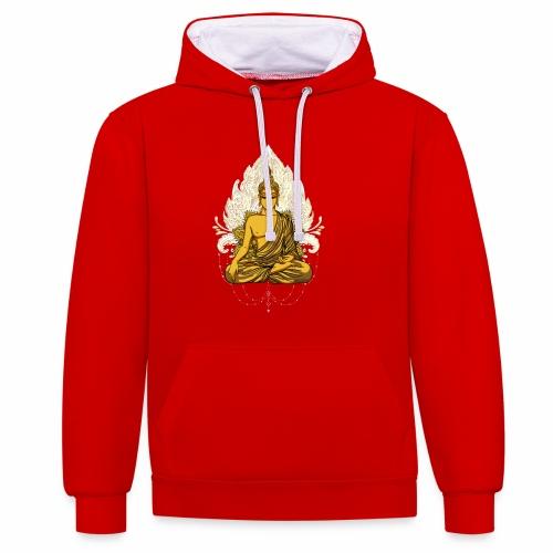 Golden buddha - Kontrast-hættetrøje