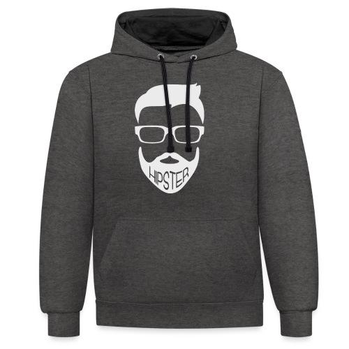 Hipster Bart Vollbart Mann Shirt Geschenk - Kontrast-Hoodie