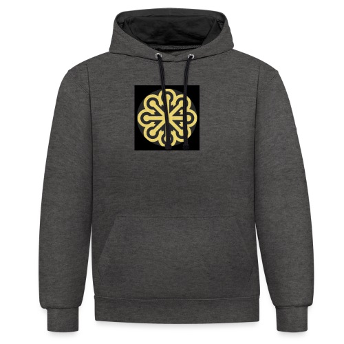 BGLogoGOLD - Contrast Colour Hoodie