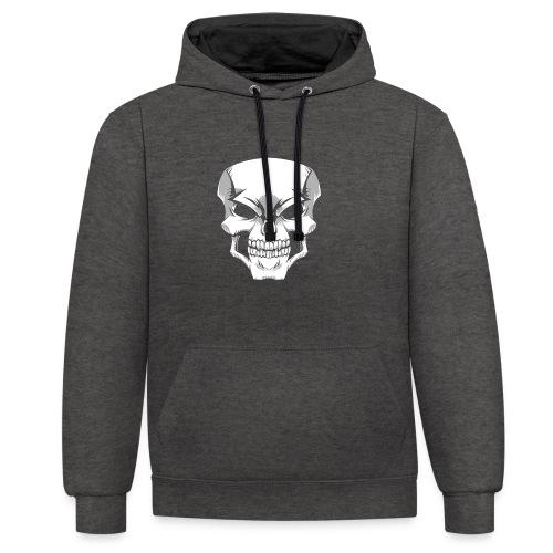Skull - Sudadera con capucha en contraste