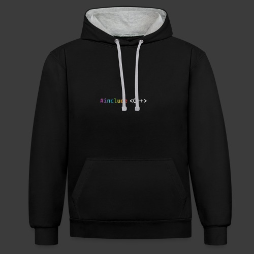 rainbow for dark background - Contrast Colour Hoodie