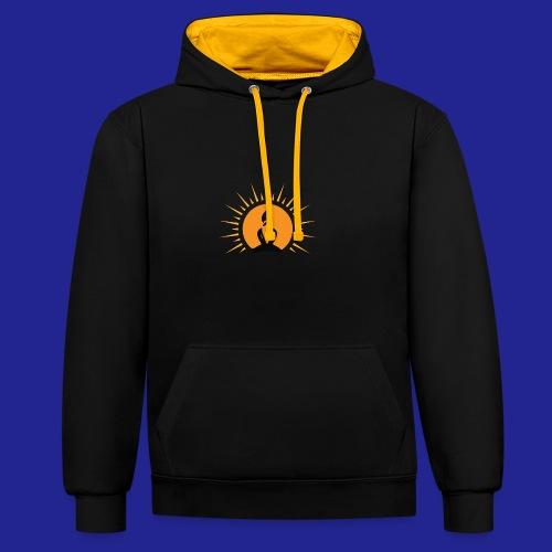 Guramylyfe logo no text black - Contrast Colour Hoodie