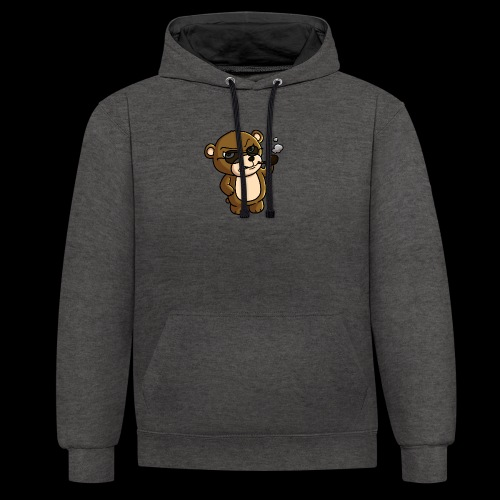AngryTeddy - Contrast Colour Hoodie