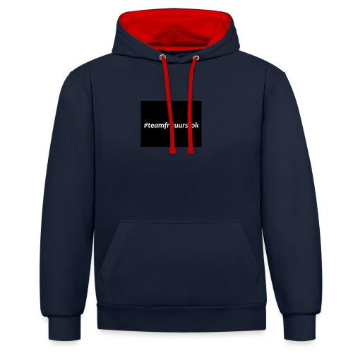 #teamfrituurstok - Contrast hoodie