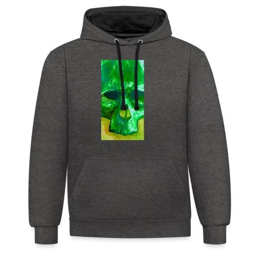Green Skull - Contrast hoodie