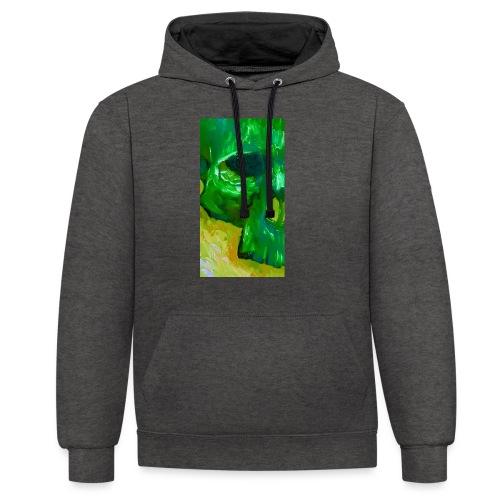 Green Skull #2 - Contrast hoodie