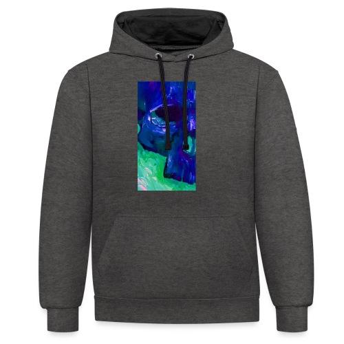 Blue Skull #2 - Contrast hoodie