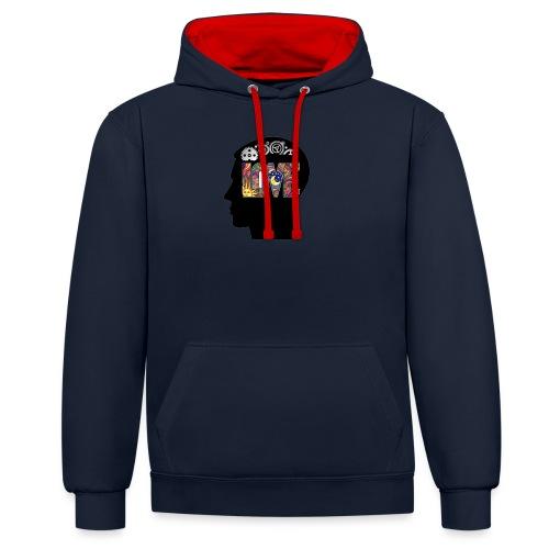 Love in my head - Contrast hoodie