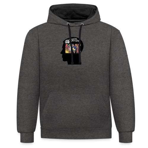 Love in my head - Contrast hoodie