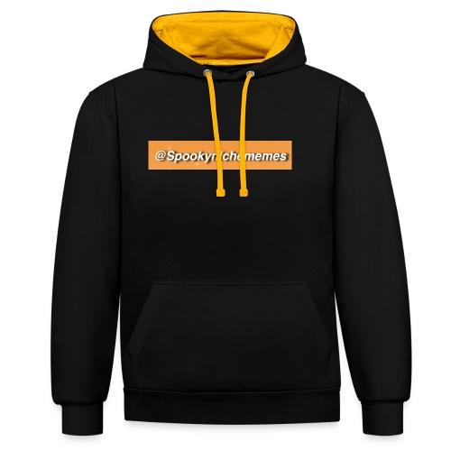 Orange Spookynichememes - Contrast Colour Hoodie