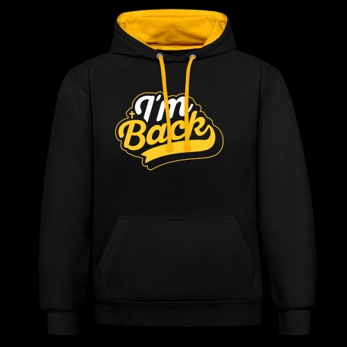 I`m back Christianity Jesus Bible Clothing Design - Contrast Colour Hoodie