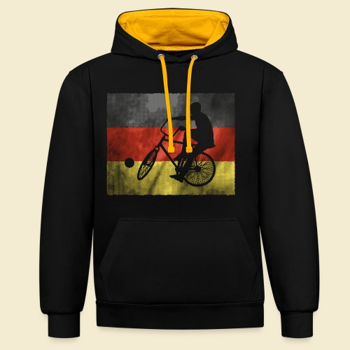 Radball | Flagge Deutschland - Kontrast-Hoodie