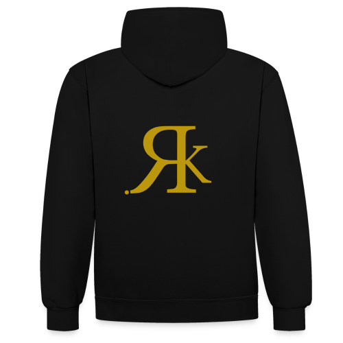 ReKreation. Gold - Kontrast-Hoodie