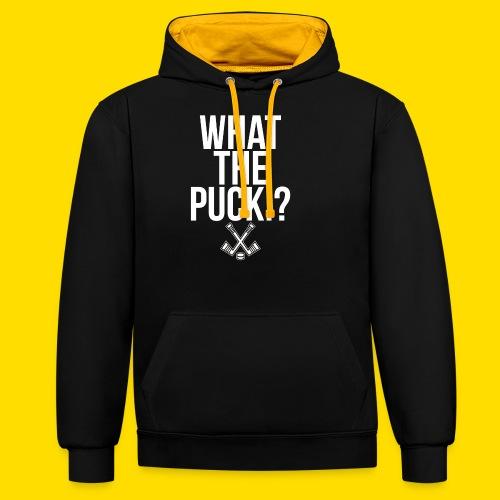 What the Puck!? Eishockey T-shirt - Kontrast-Hoodie