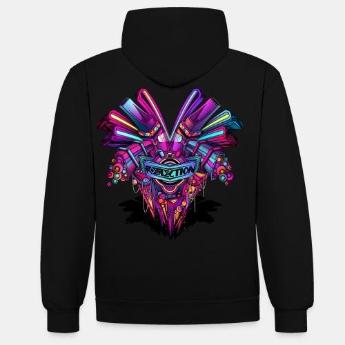 reflectionshirt - Kontrast-Hoodie