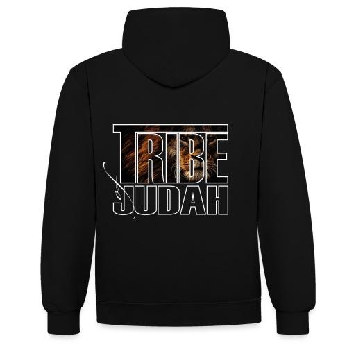 The Lion is of the Tribe of Judah Jesus - Kontrast-Hoodie