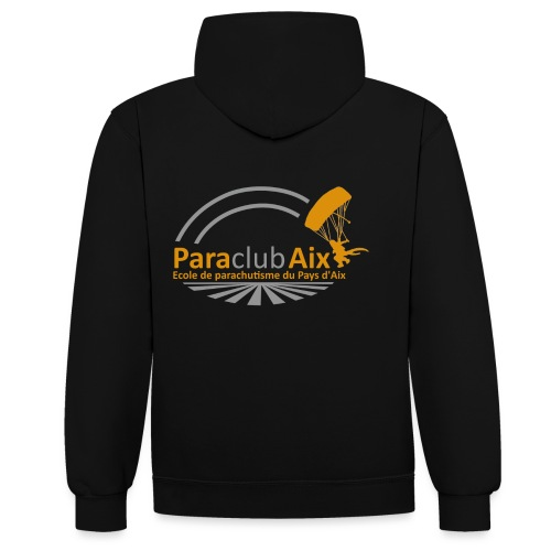 Paraclubaix black - Sweat-shirt contraste