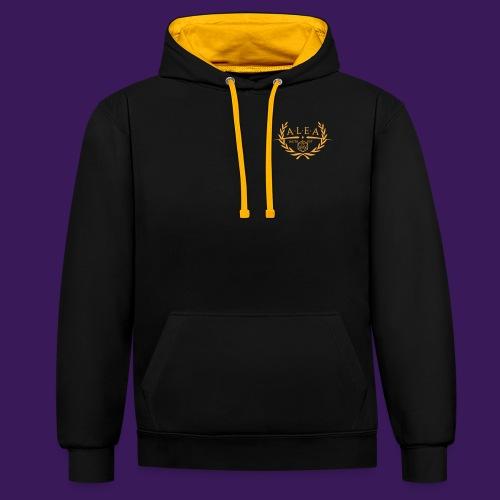 ALEA Logo Gold - Kontrast-Hoodie