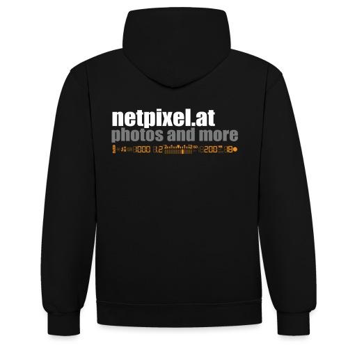 netpixel at Logo - Kontrast-Hoodie