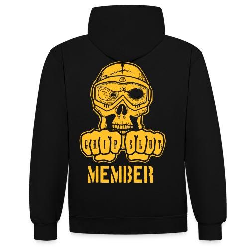 GripSluts Member Gold - Kontrast-Hoodie