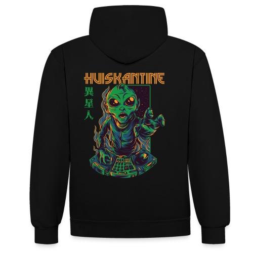huiskantine alien DJ - Contrast hoodie