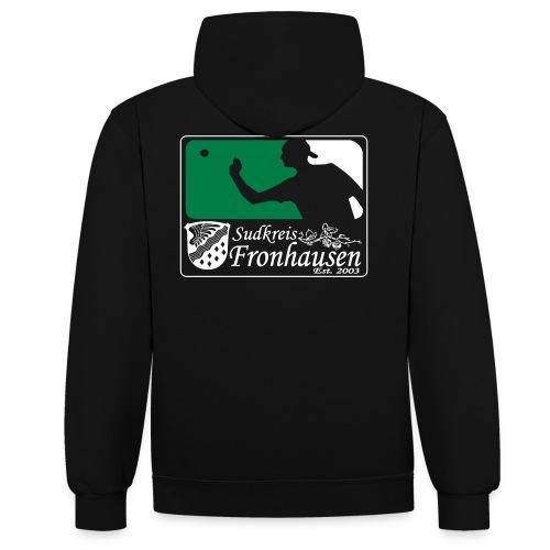 Logo_Beer_Pong_2015 - Kontrast-Hoodie