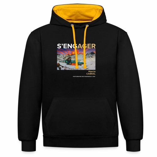 1 Achat = 1 don à la Fondation Surf Rider Europe - Sweat-shirt contraste