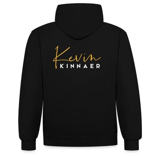 Kevin Kinnaer logo - kleur - Contrast hoodie