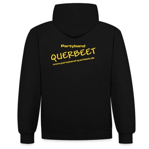 Querbeet new yellow - Kontrast-Hoodie