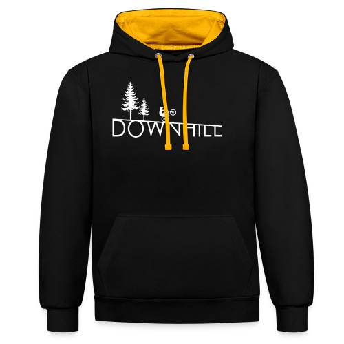 Downhill Whip it design - Kontrast-Hoodie