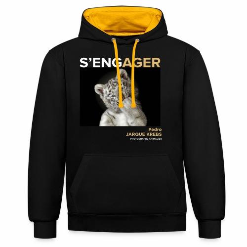 1 Achat = 1 Don à l'association Rainfer - Sweat-shirt contraste