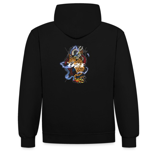 Tiger&DragonUzi - Sweat-shirt contraste