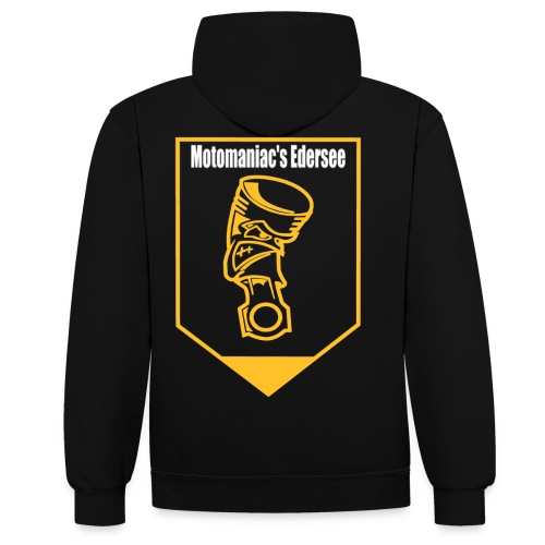 Motomaniac's Gold Design - Kontrast-Hoodie