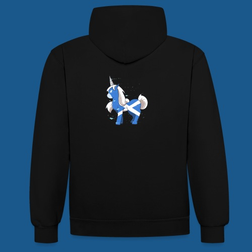The Scotsman - Contrast Colour Hoodie