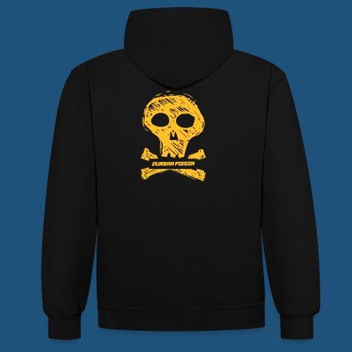 DURBAN POISON Skull - Felpa con cappuccio bicromatica