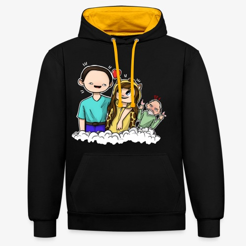 *Limited Edition* Esmee ❤️ Teun (Boze vader) - Contrast hoodie