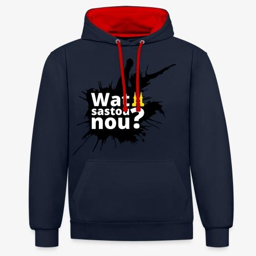 Wat sastou nou? - Contrast hoodie