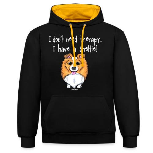 Sheltie Dog Therapy 2 - Contrast Colour Hoodie