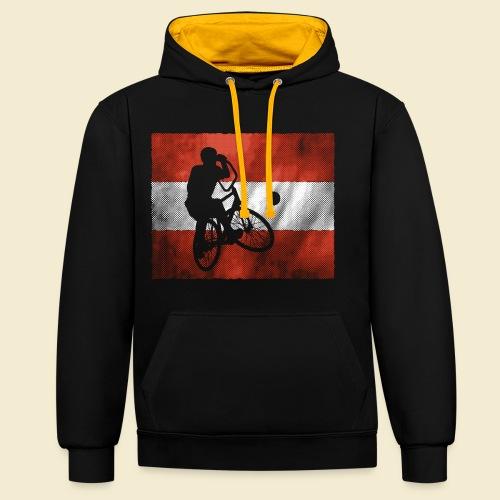 Radball   Flagge Österreich - Kontrast-Hoodie